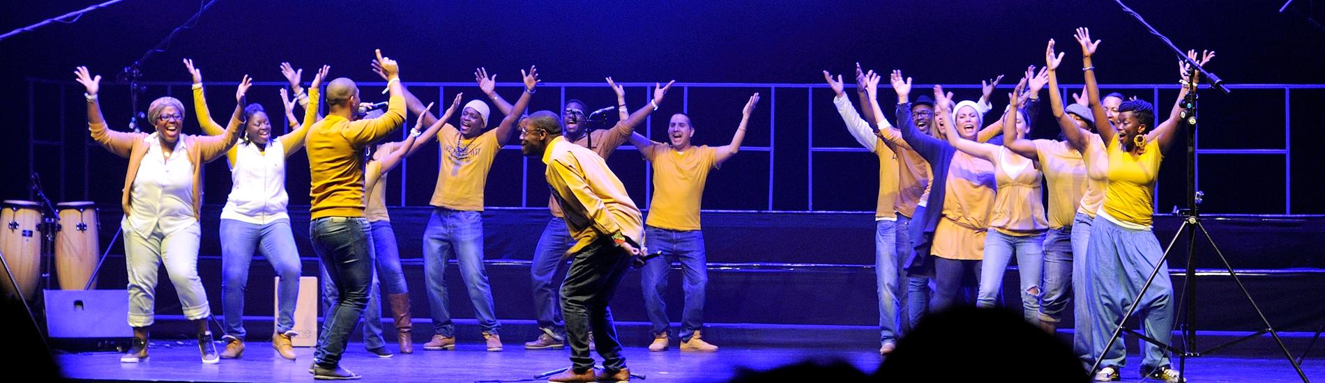 participation de la chorale de gospel urbain VOICE2GETHER au show battle voices en décembre 2013