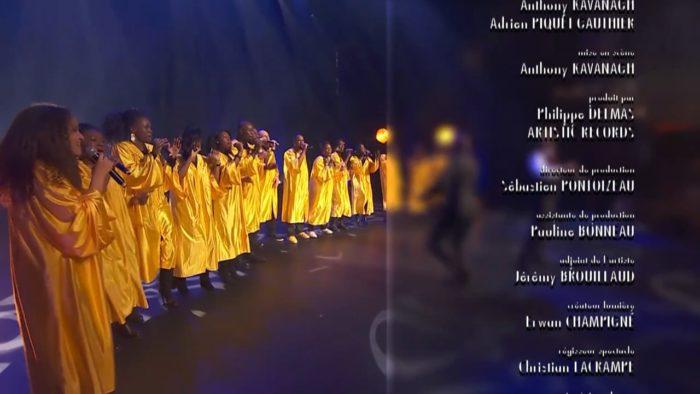 en direct sur la chaîne C8, anthony Kavanagh et la chorale gospel VOICE2GETHER