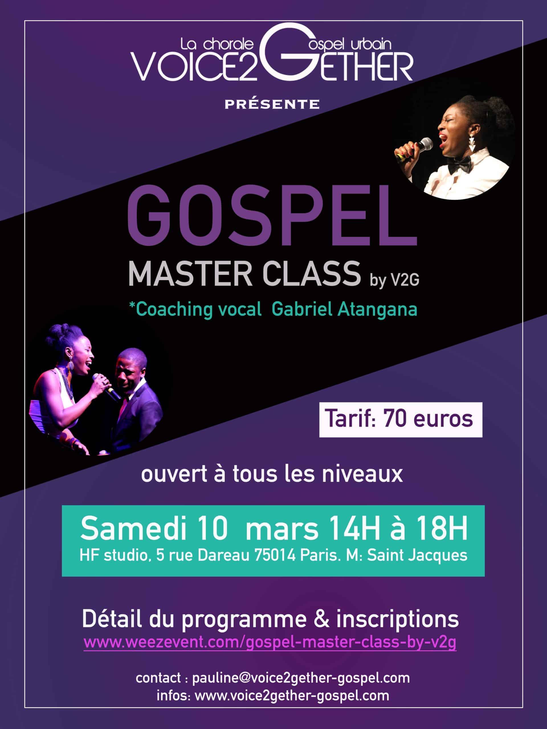 gospel master class by V2G